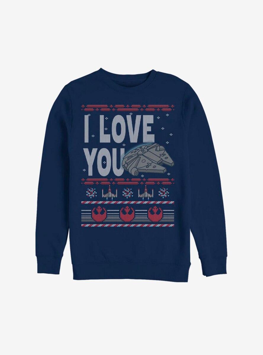 Star Wars I Love You Christmas Pattern Sweatshirt