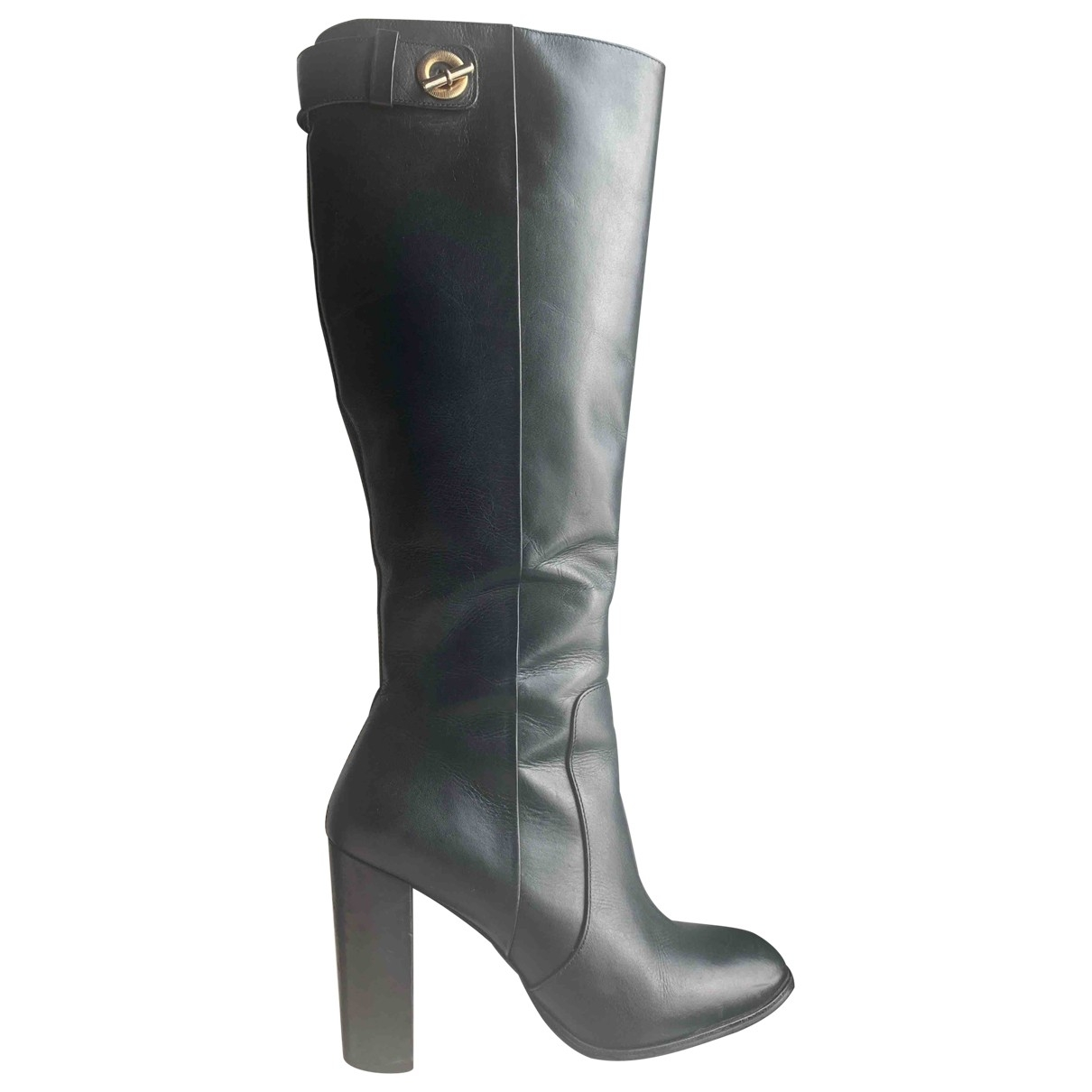 Reiss \N Black Leather Boots for Women 39 EU