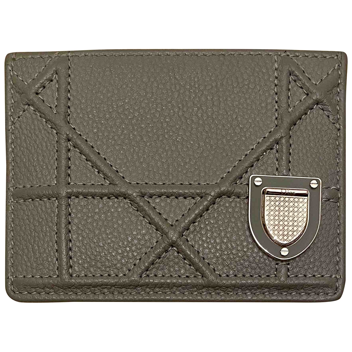 Dior Diorama Grey Leather Purses, wallet & cases for Women \N