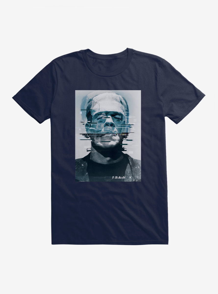 Universal Monsters Frankenstein Distorted Face T-Shirt