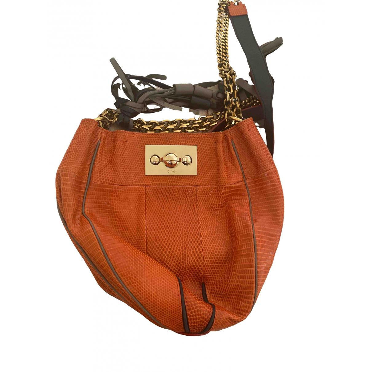 Chloe \N Handtasche in  Orange Leder