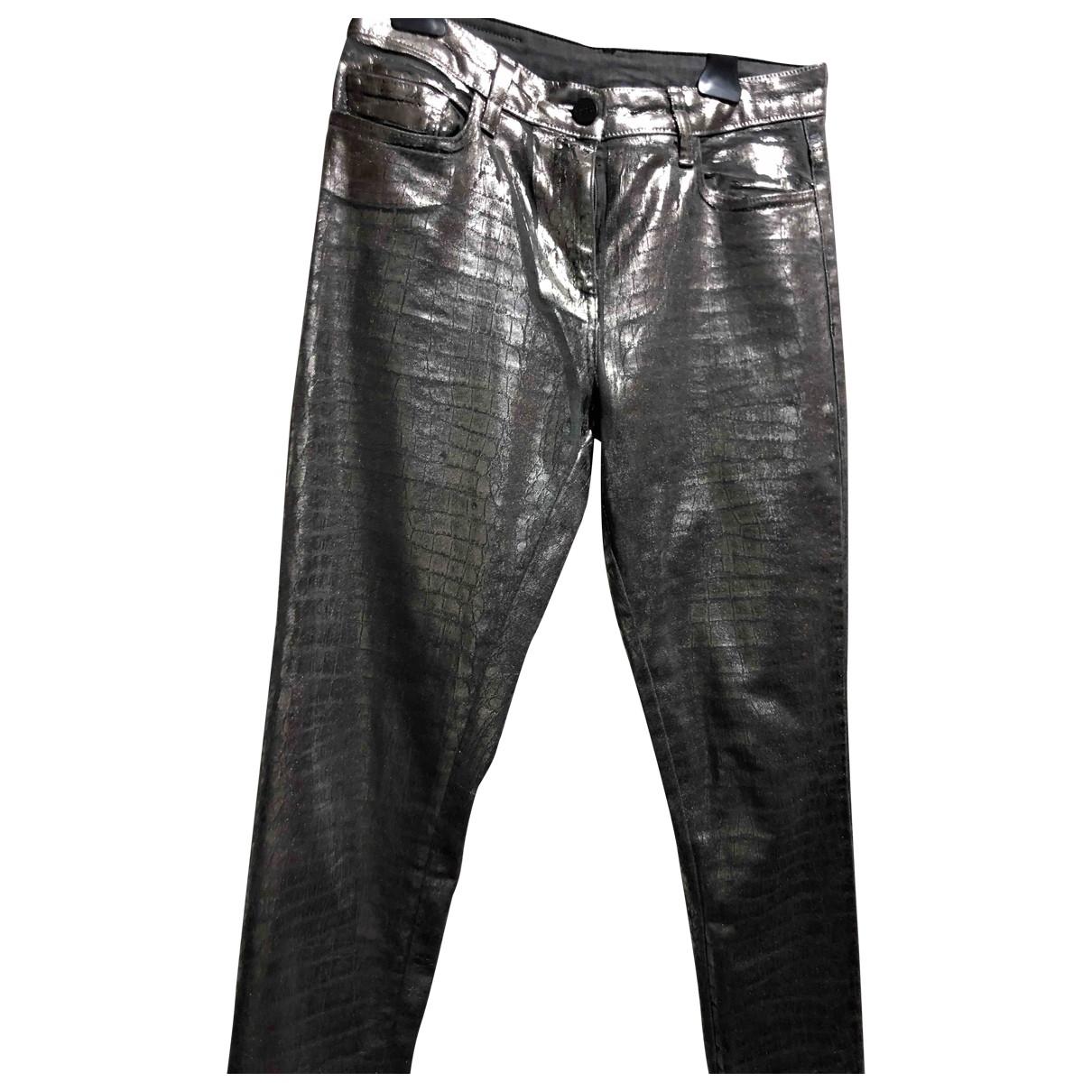 Pinko \N Metallic Denim - Jeans Trousers for Women 42 IT