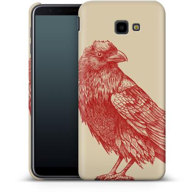 Samsung Galaxy J4 Plus Smartphone Huelle - Red Raven von Terry Fan