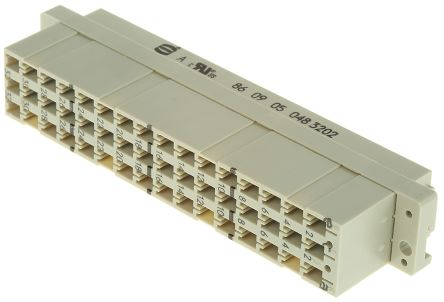 HARTING , 09 05 48 Way 5.08mm Pitch, Type E, 3 Row, Straight DIN 41612 Connector, Socket