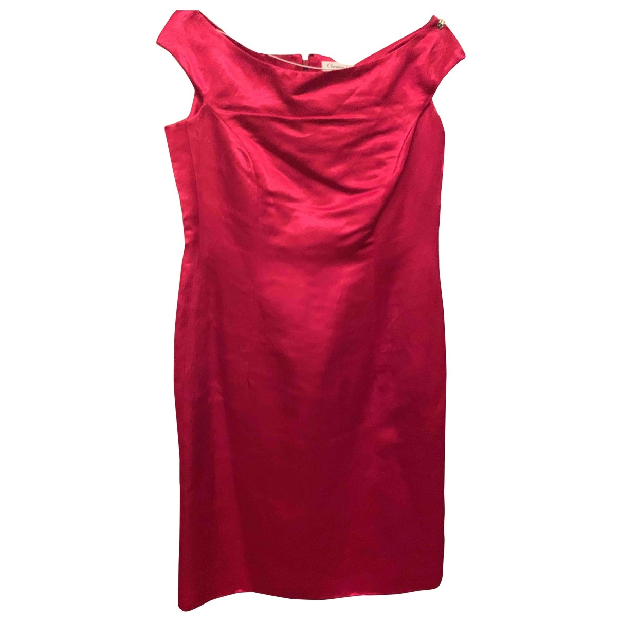 Dior \N Kleid in  Rot Seide