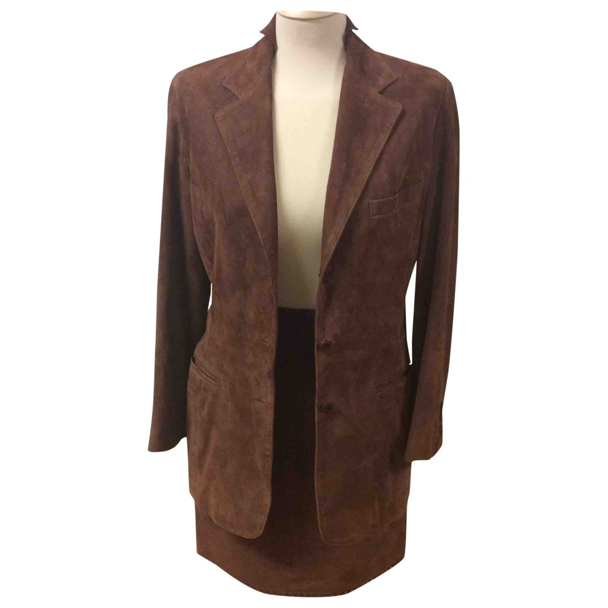 Mabrun \N Brown Suede Leather jacket for Women 42 IT