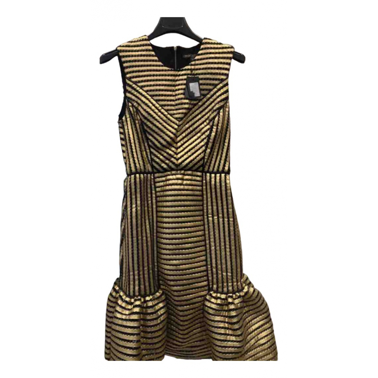 Maje N Black Cotton - elasthane dress for Women 36 FR
