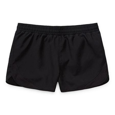 Xersion Little & Big Girls Mid Rise Running Short, X-small (6-6x) , Black