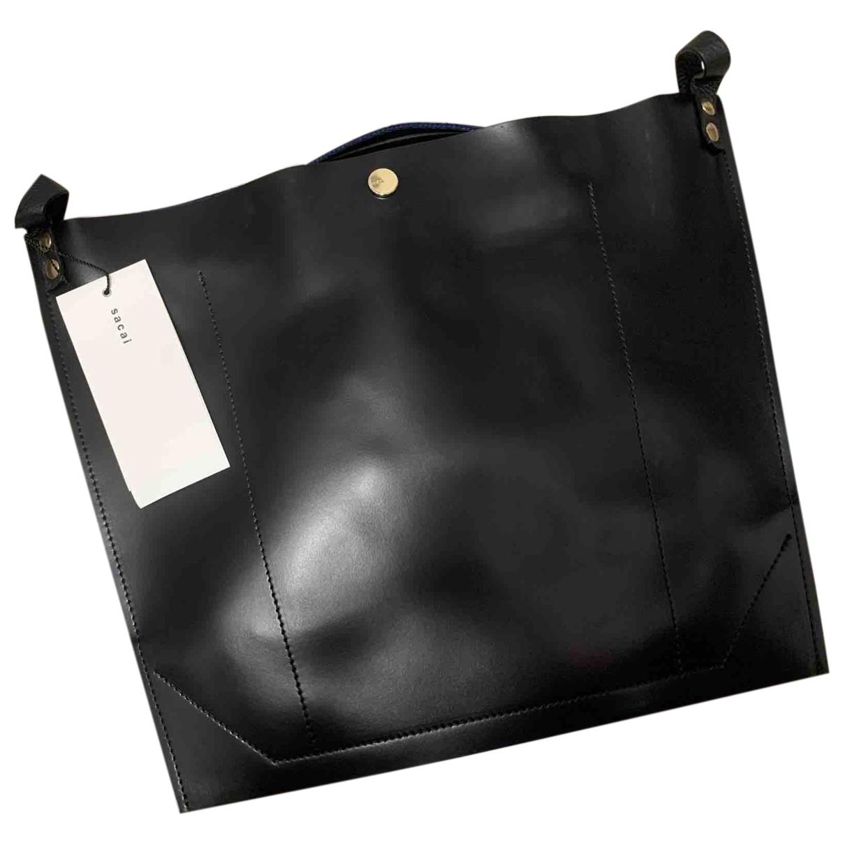Sacai N Black Leather handbag for Women N