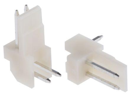 TE Connectivity , EI, 2 Way, 1 Row, Right Angle PCB Header (5)