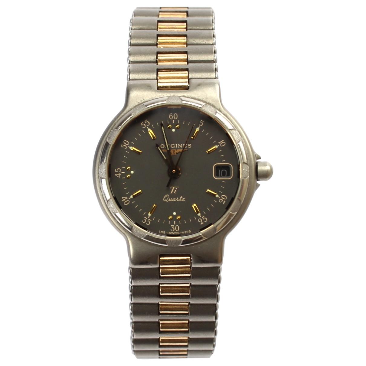 Longines Conquest  Uhr in  Grau Titan