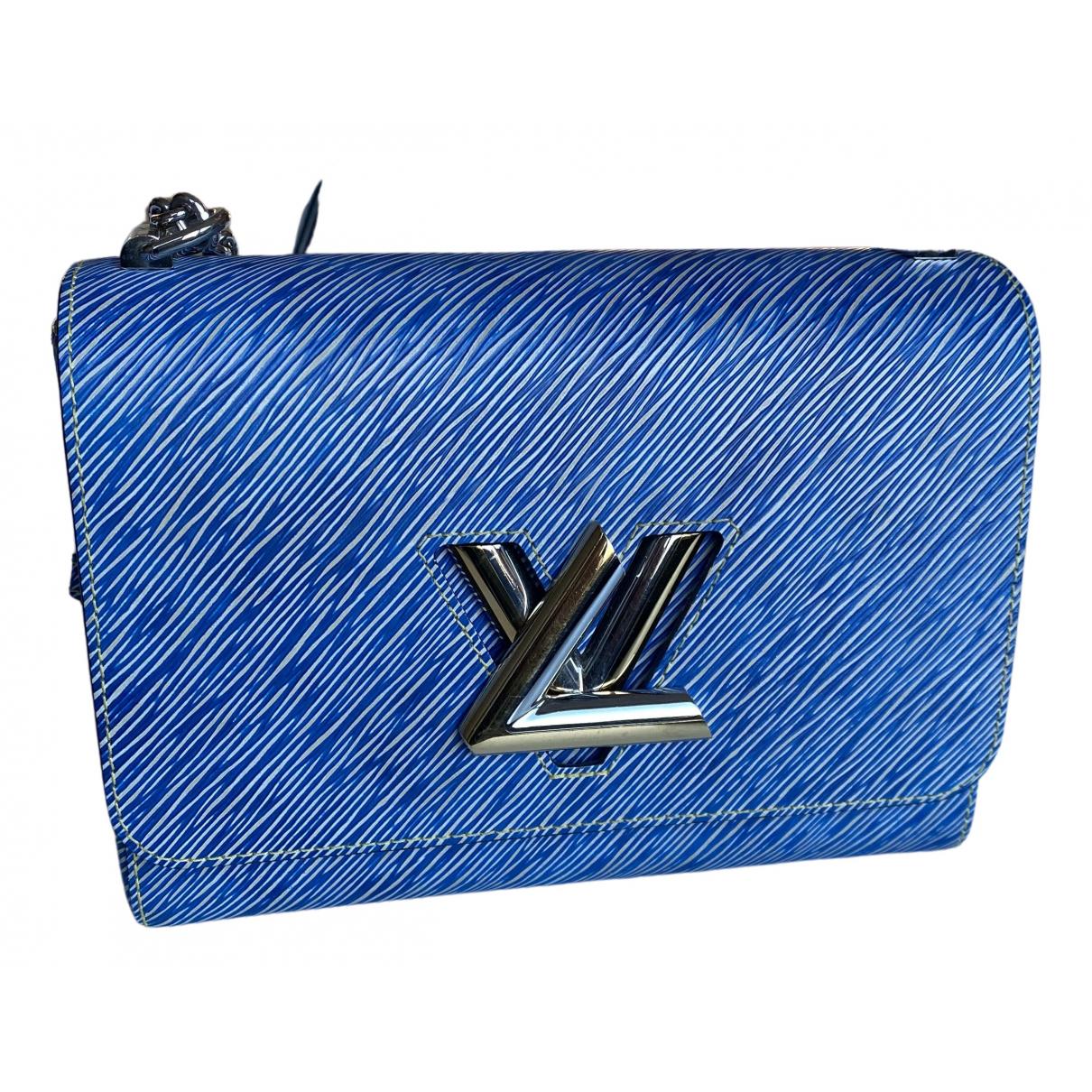Louis Vuitton - Sac a main Twist pour femme en cuir - bleu