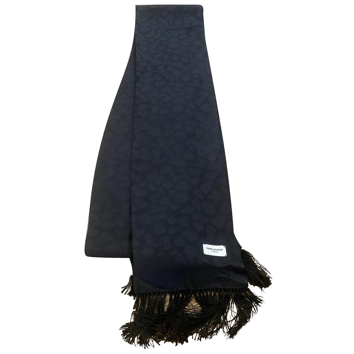 Saint Laurent \N Black Silk scarf & pocket squares for Men \N
