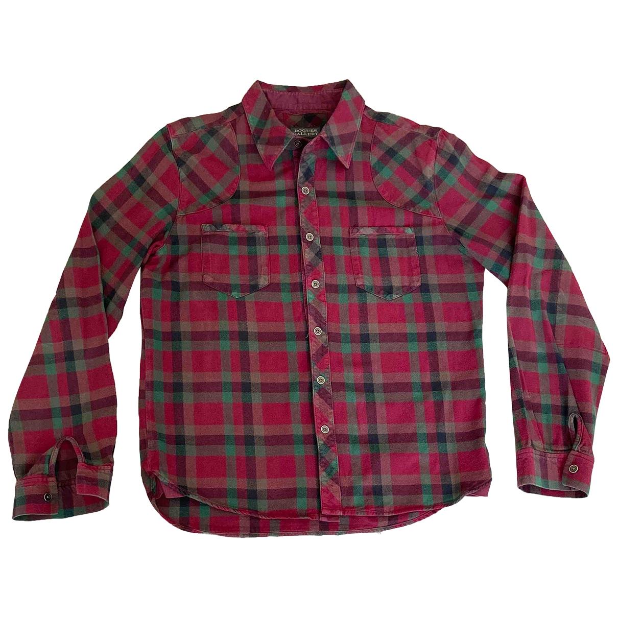 Non Signe / Unsigned \N Hemden in  Rot Baumwolle