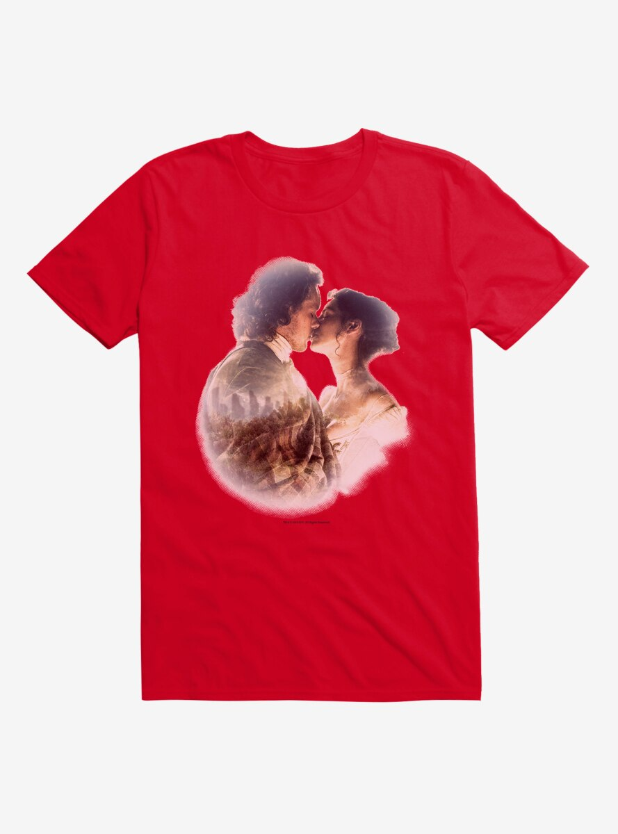 Outlander Claire and Jamie Kiss T-Shirt