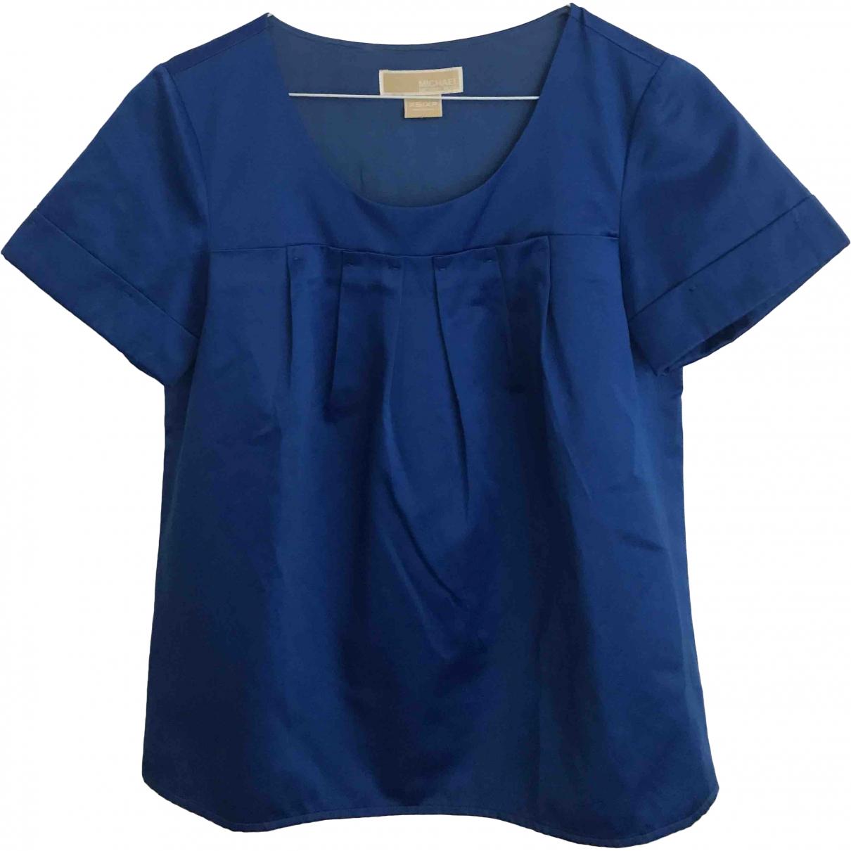 Michael Kors - Top   pour femme en coton - bleu