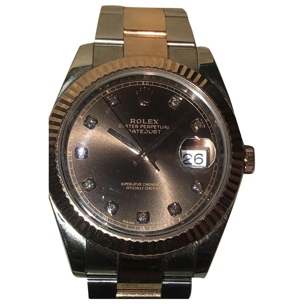 Rolex - Montre DateJust II 41mm pour homme en or et acier - multicolore