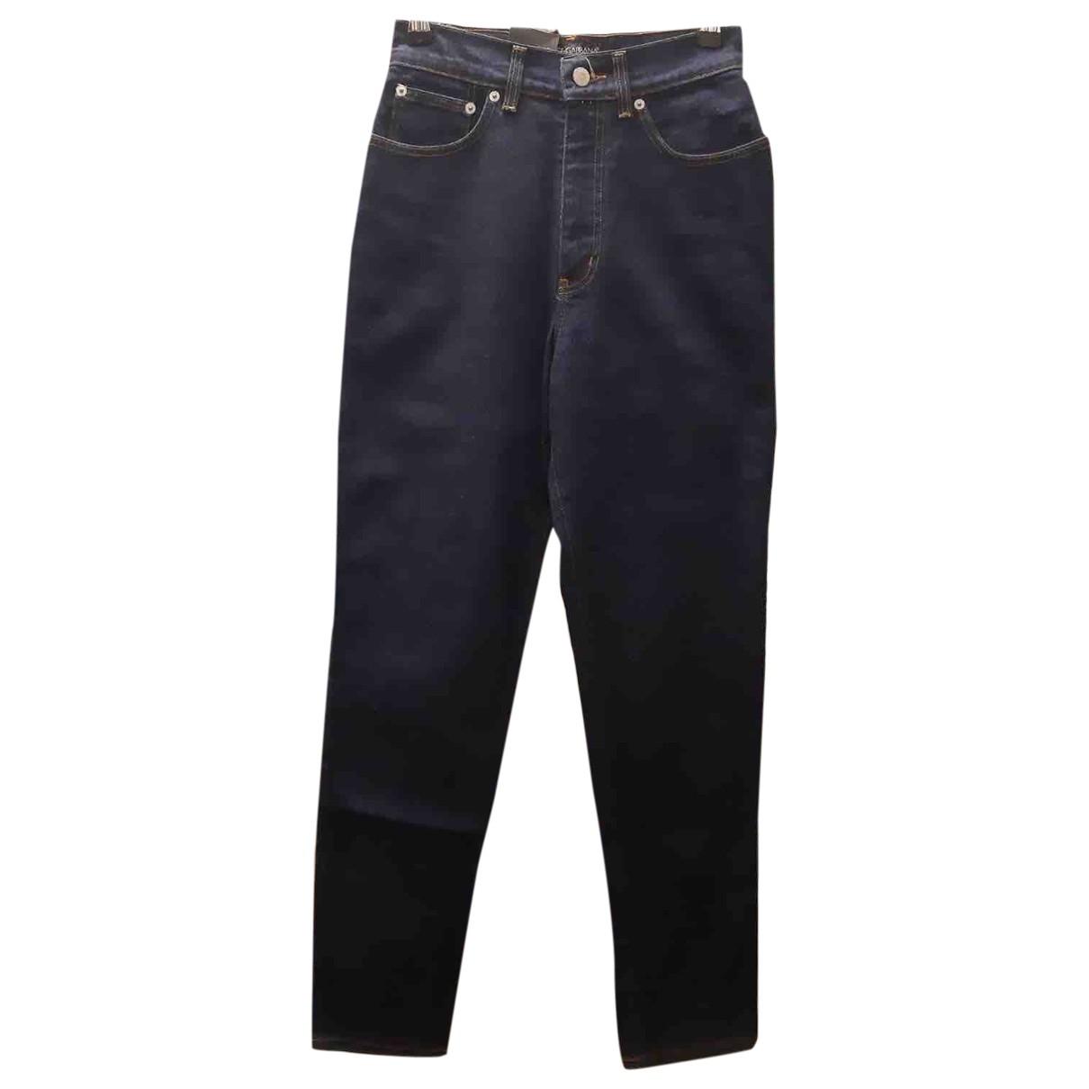 Dolce & Gabbana \N Blue Denim - Jeans Trousers for Women 10 US