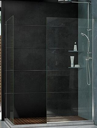 SHDR-3230342-06 Linea Two Individual Frameless Shower Screens 34 In. And 30 In. W X 72 In. H  Open Entry Design In Oil Rubbed