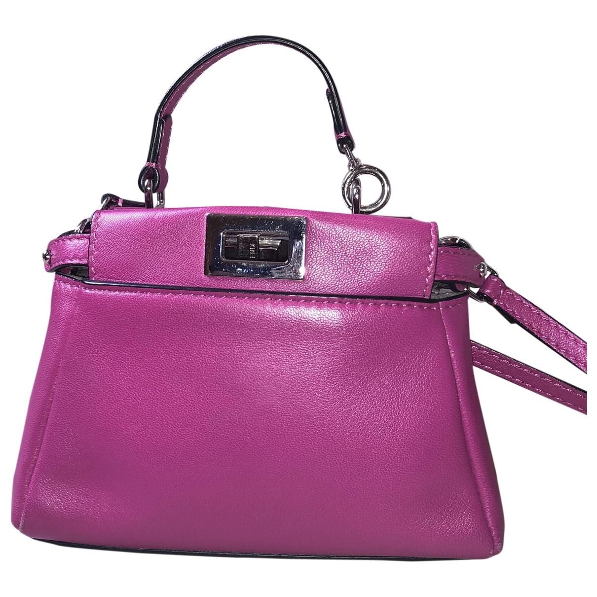 Fendi Peekaboo Handtasche in  Rosa Leder