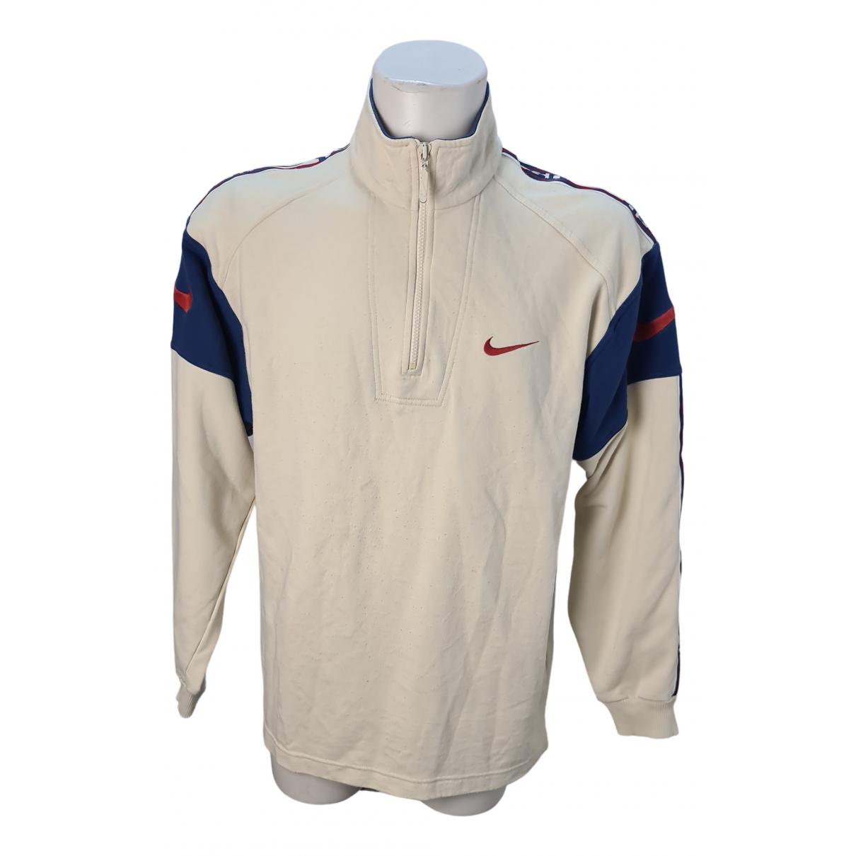 Nike \N Pullover.Westen.Sweatshirts  in  Beige Baumwolle
