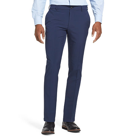 Van Heusen Flex 3 Slim Fit Dress Pant, 28 32, Blue