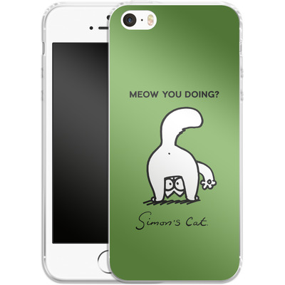 Apple iPhone SE Silikon Handyhuelle - Meow You Doing? von Simons Cat