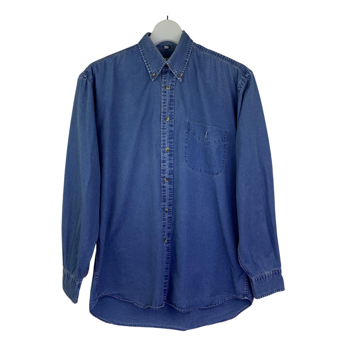 Yves Saint Laurent \N Hemden in  Blau Denim - Jeans