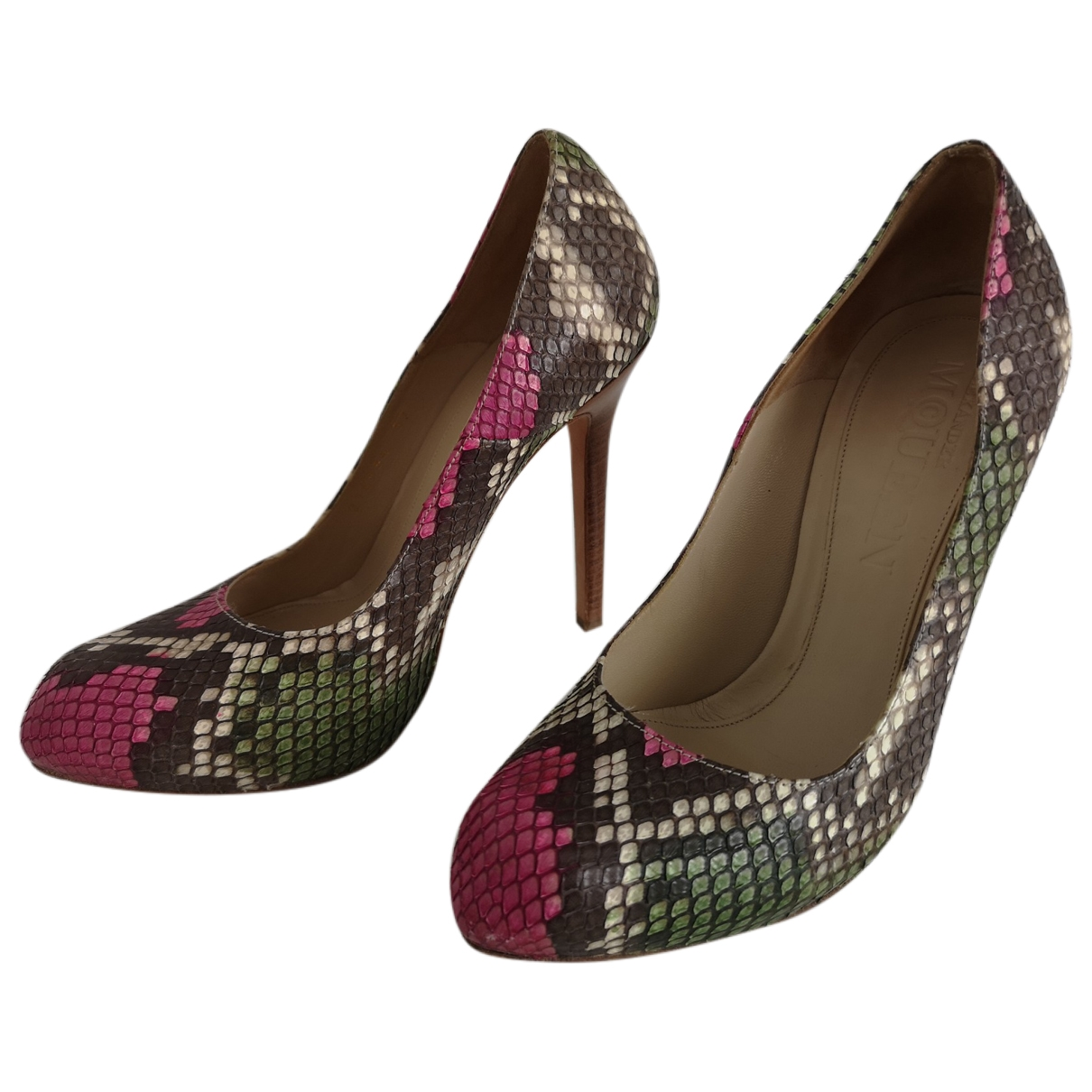 Alexander Mcqueen \N Multicolour Python Heels for Women 37 IT