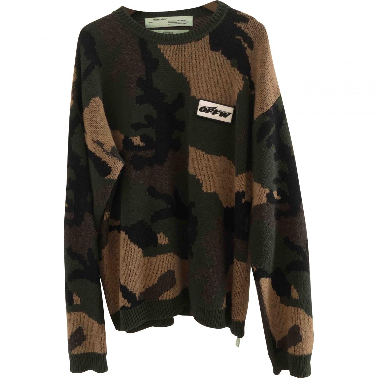 Off-white \N Pullover.Westen.Sweatshirts  in  Gruen Baumwolle