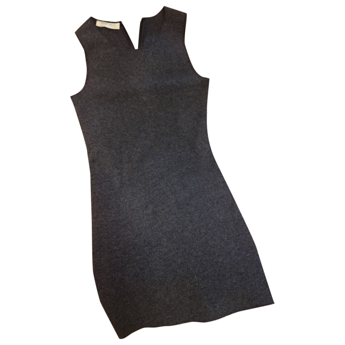 Miu Miu \N Kleid in  Grau Wolle