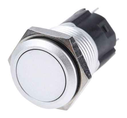 EAO Single Pole Double Throw (SPDT) Momentary Push Button Switch, IP65, IP67, 16 (Dia.)mm, Panel Mount, 250V ac