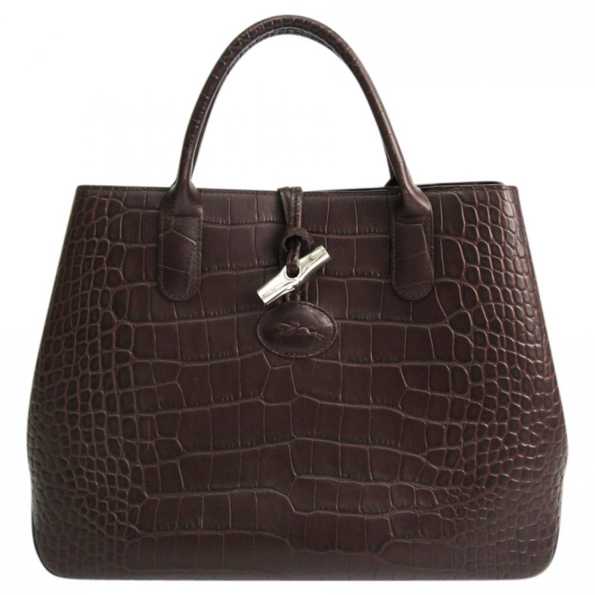 Longchamp \N Handtasche in  Braun Leder