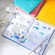 1 Pack Notizbuch mit Grafik Muster Decke