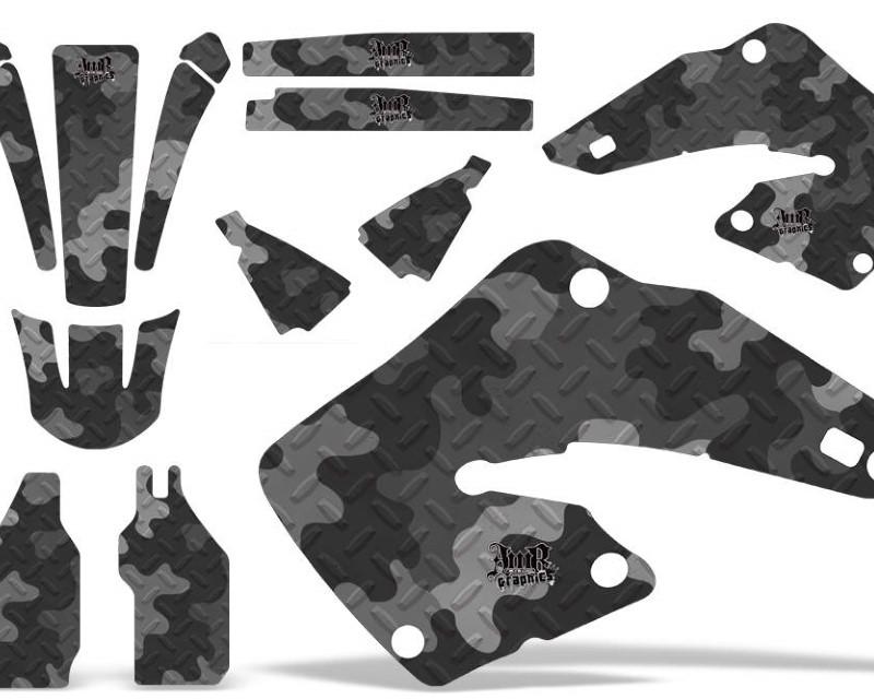 AMR Racing Dirt Bike Graphics Kit MX Decal Wrap For Honda CR125 | CR250 2000-2001áCAMOPLATE BLACK