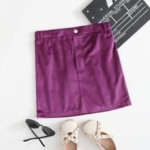 Faldas para niñas Boton Liso Casual