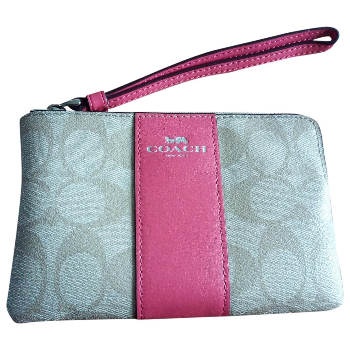 Coach \N Beige Leather Clutch bag for Women \N