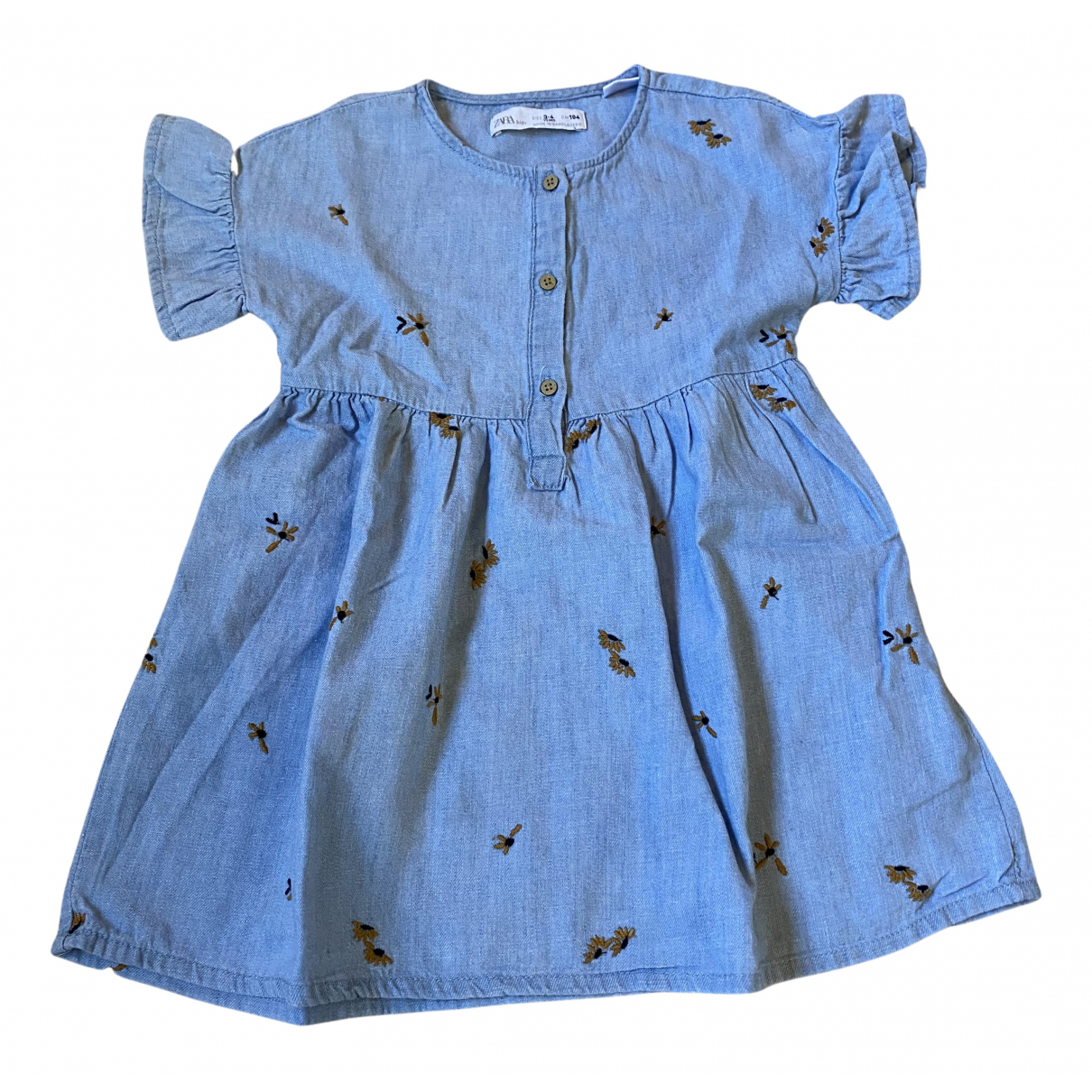 Zara N Blue Cotton dress for Kids 3 years - until 39 inches UK