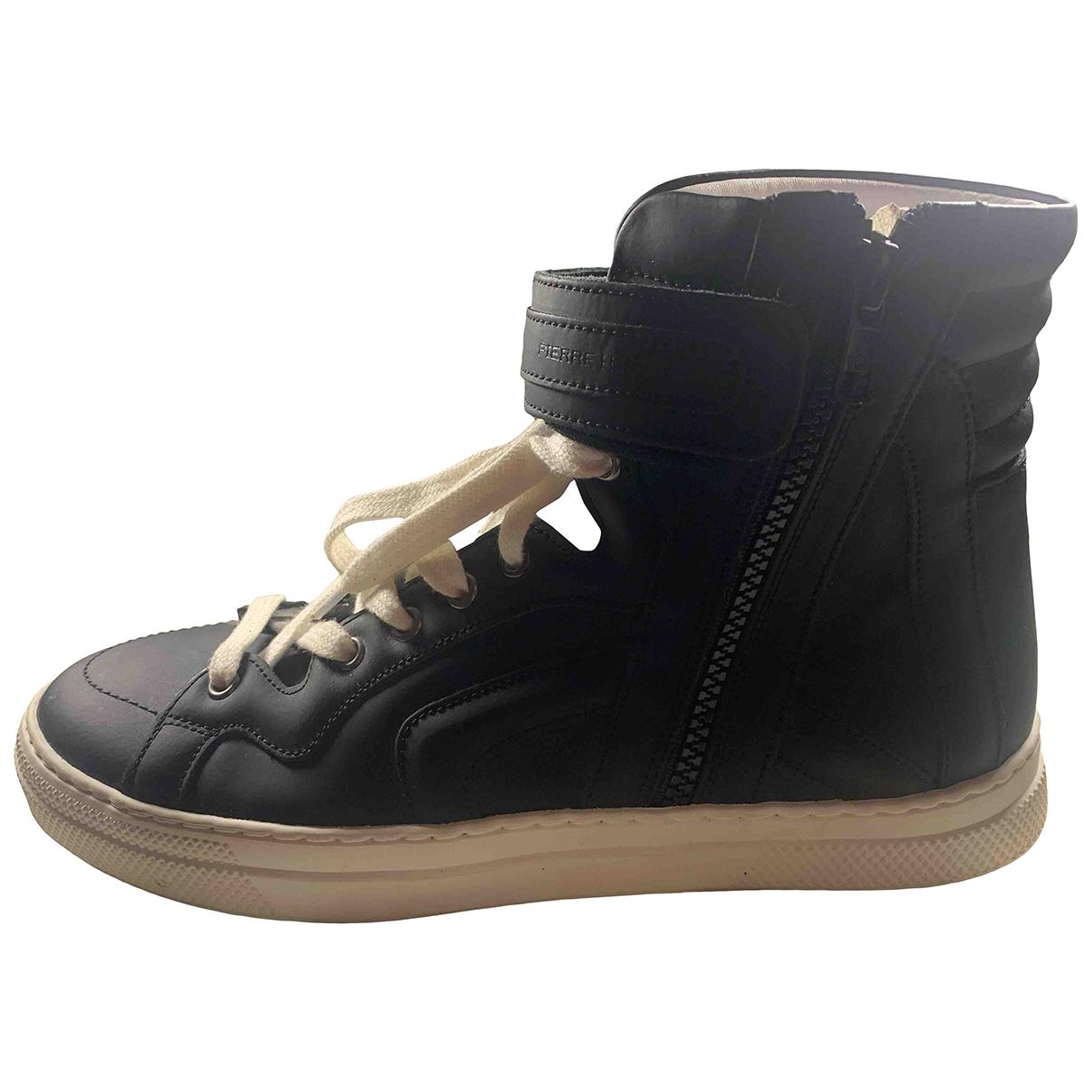 Pierre Hardy \N Sneakers in  Schwarz Leder