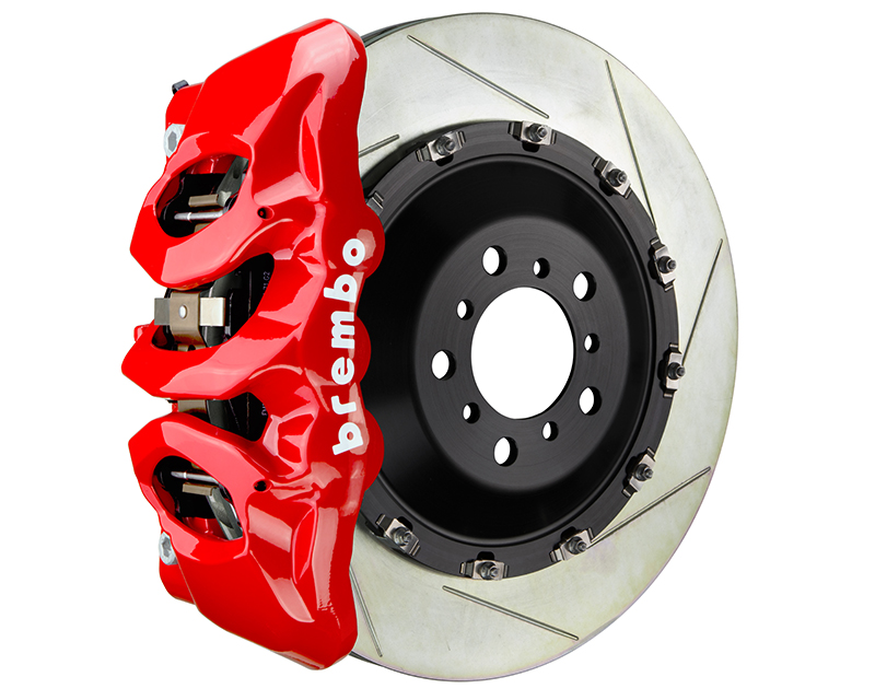 Brembo GT 405x34 6-Piston Red Slotted Front Big Brake Kit