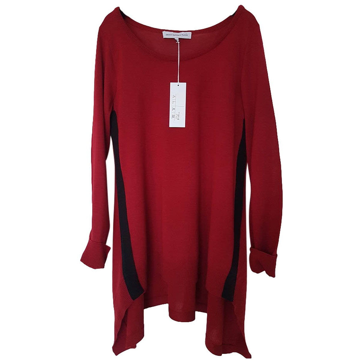 Non Signe / Unsigned \N Pullover in  Bordeauxrot Wolle