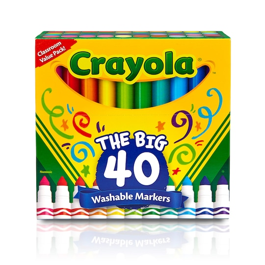 Crayola Ultra Clean Washable Classic Colors Broad Line Markers, 40Ct. | Michaels®