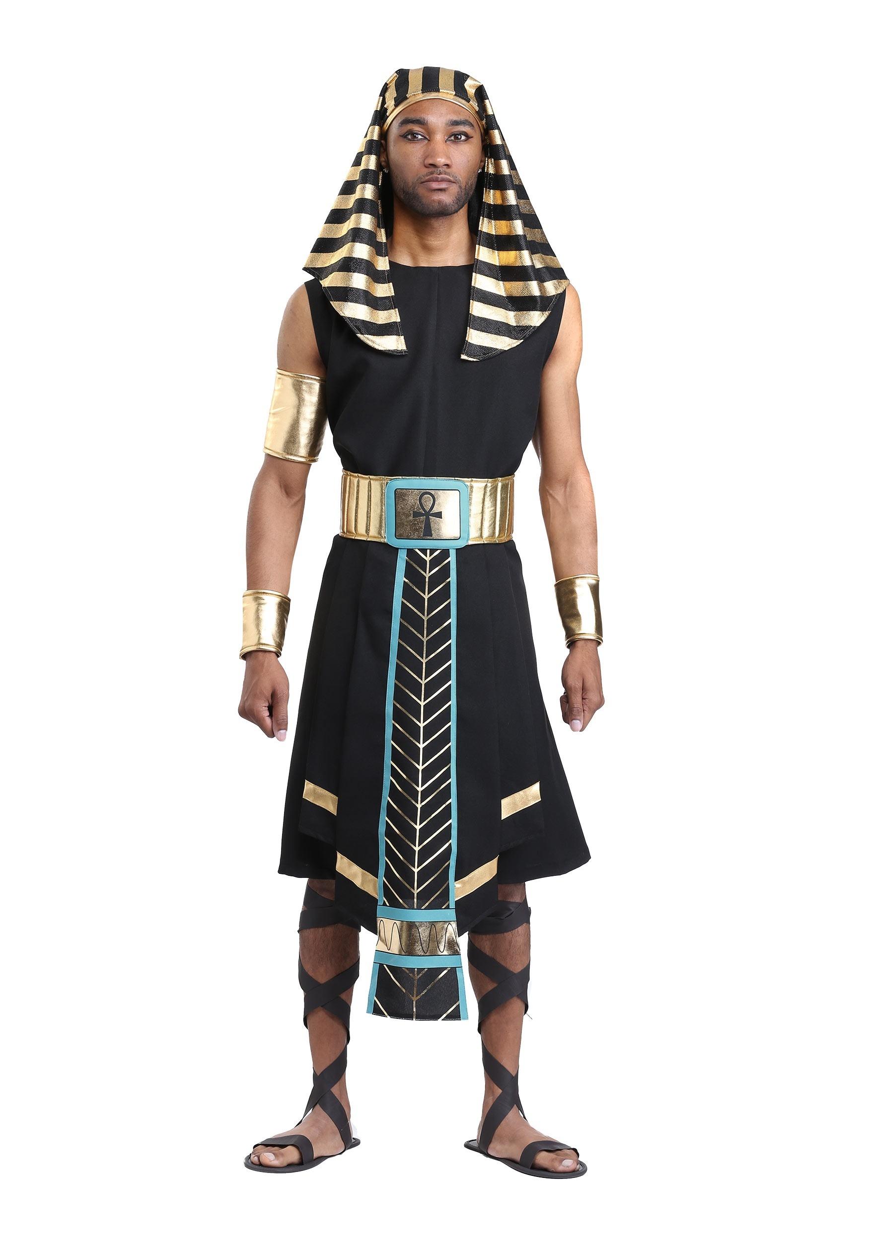 Dark Egyptian Pharaoh Costume for Men