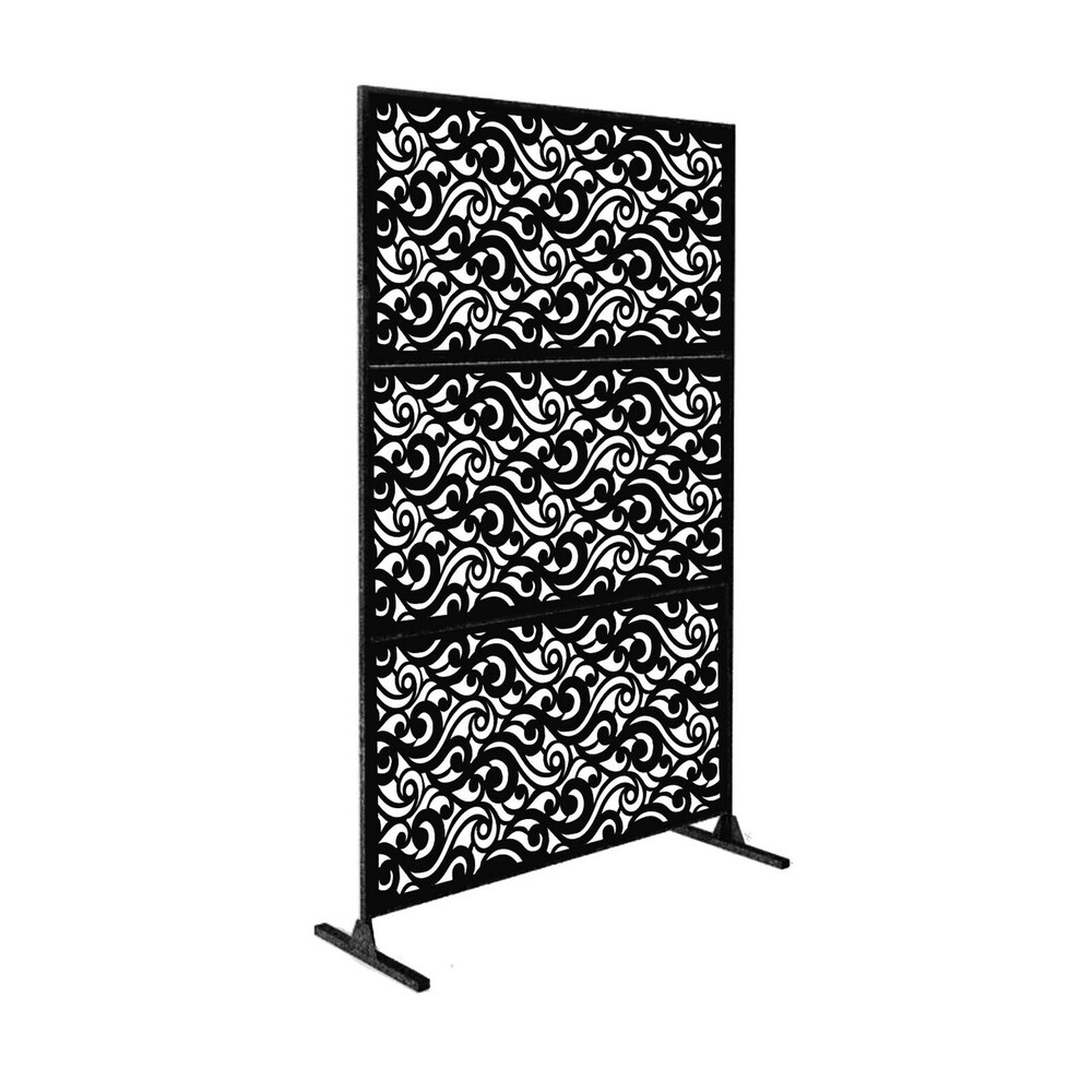 Laser Cut Metal Privacy Stand Combo Fence, 75
