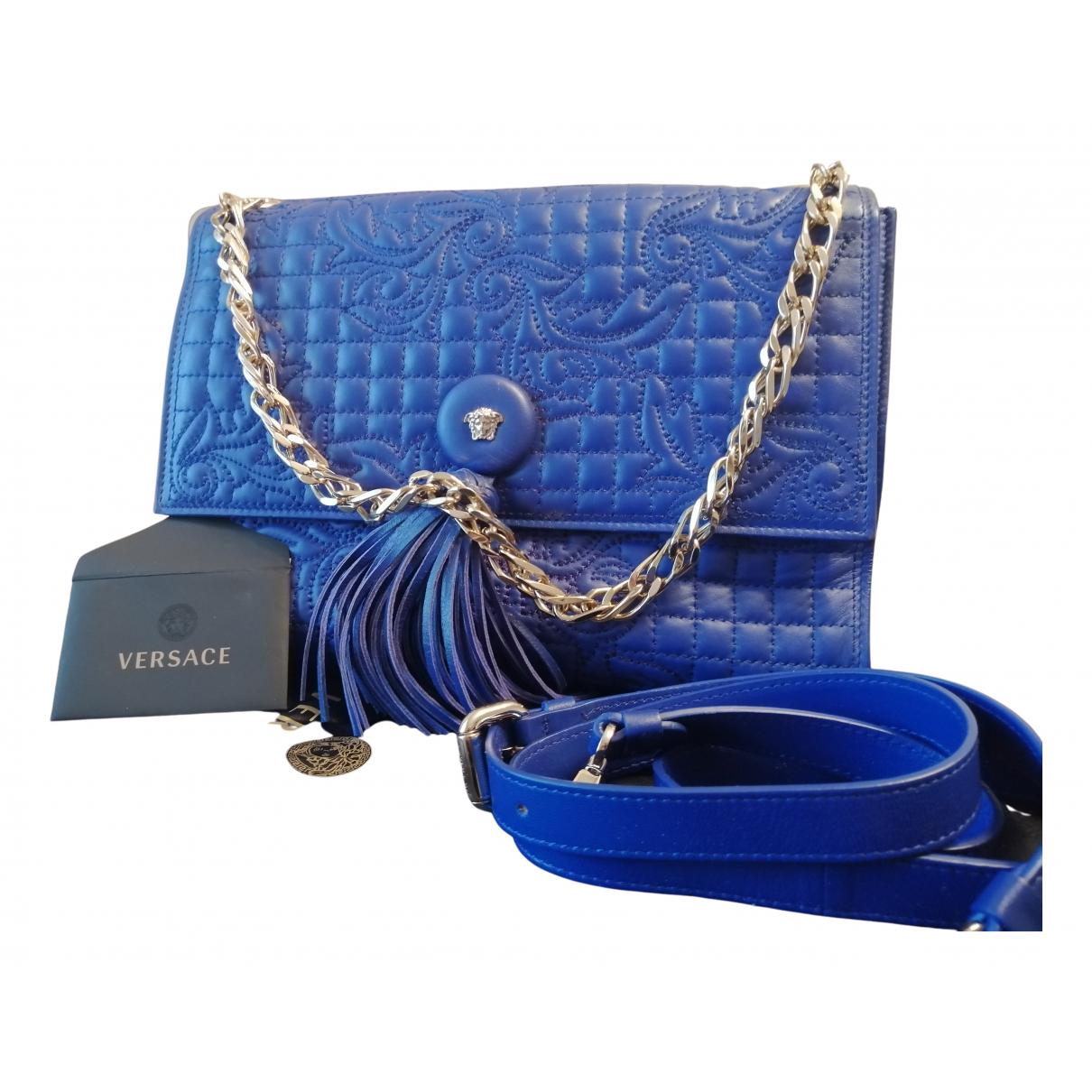 Gianni Versace \N Clutch in  Blau Leder