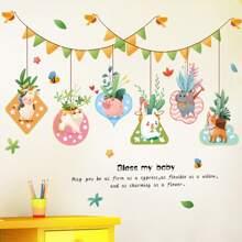 Pegatina de pared con dibujos animados