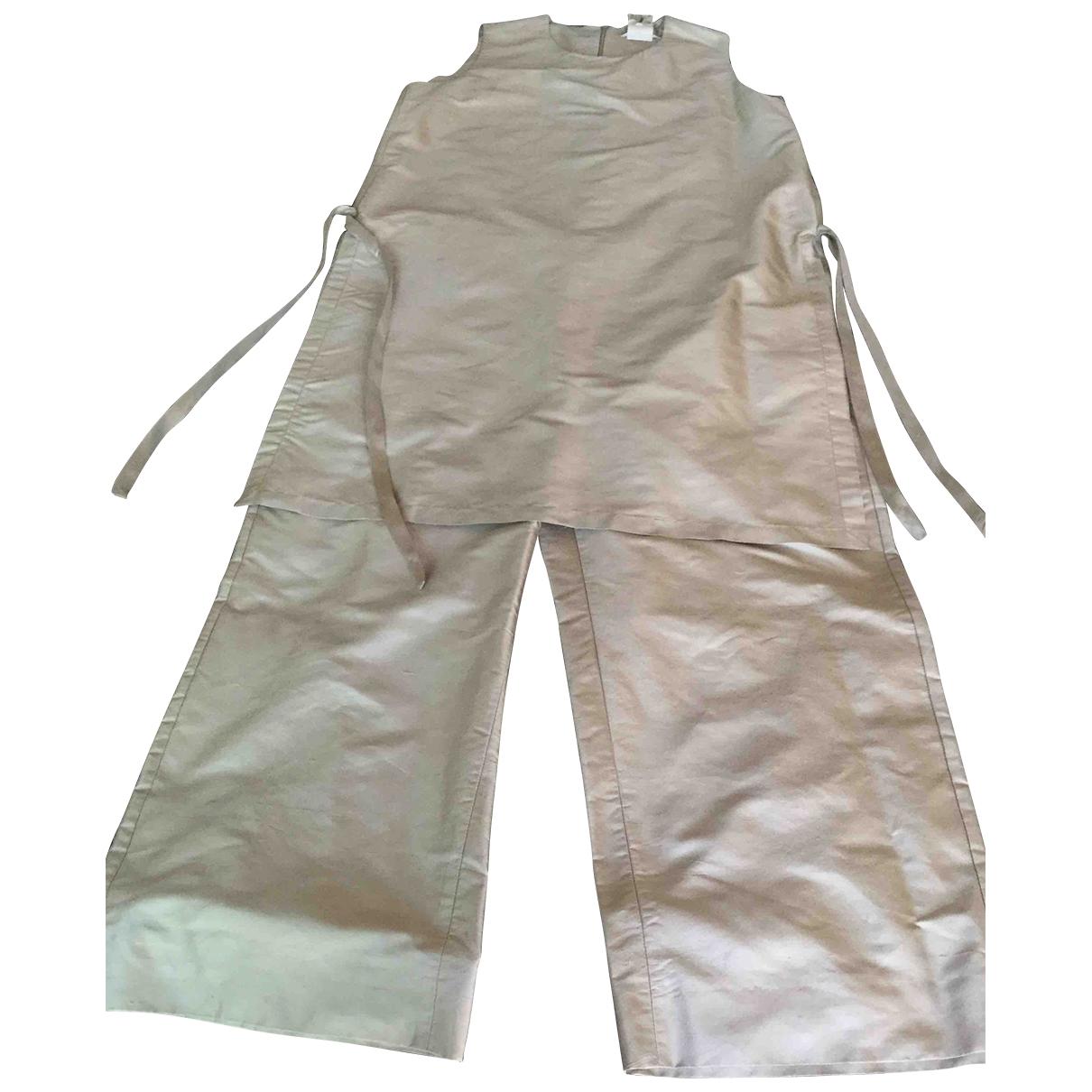 Max Mara s \N Silver Silk jumpsuit for Women 48 IT