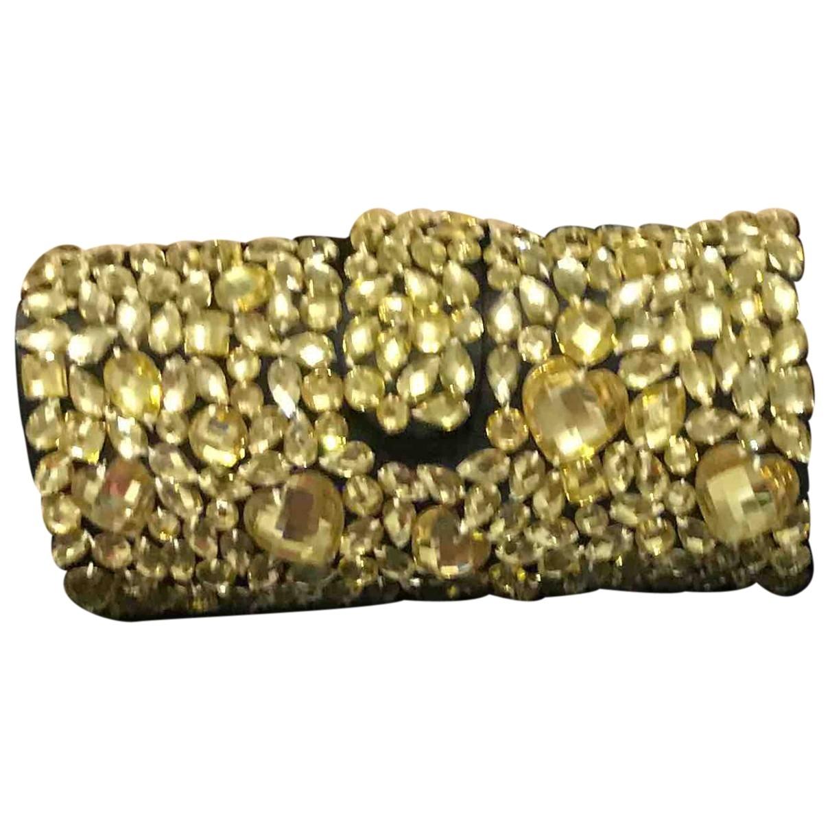 Tosca Blu \N Clutch in  Gold Polyester
