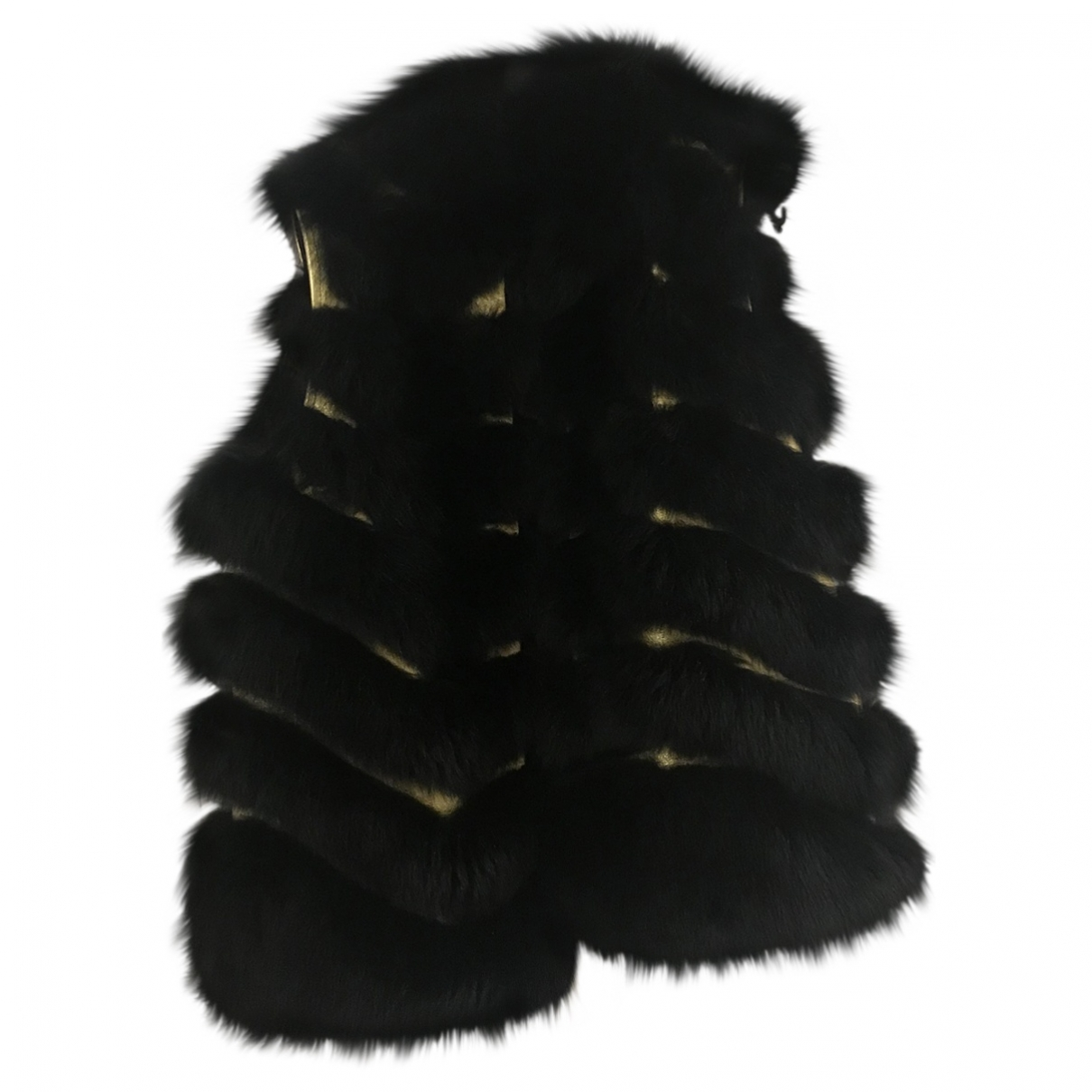 Fendi \N Black Fox jacket for Women 40 IT