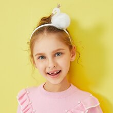 Girls Swan Decorated Headband